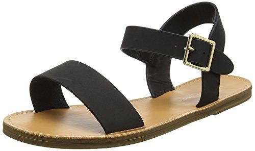 New LookFifi Clean - Sandali con tacco, Donna Nero (Black)