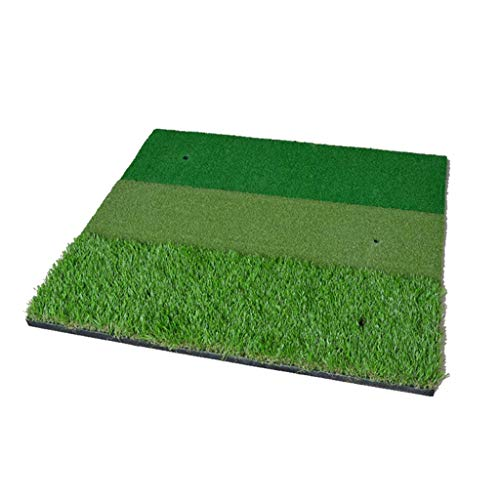 On Unisex's Multifunctional Driving and Chipping Practice Golf Hitting Mat, Green, 100 x 100 cm -