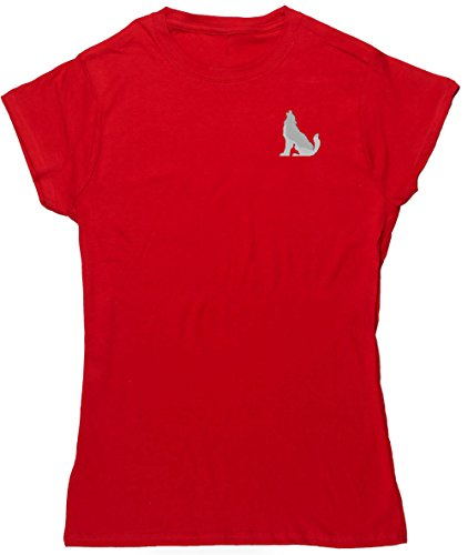 Hippowarehouse Damen T-Shirt Rot