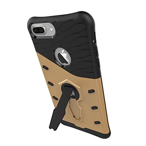 BCIT iPhone 8 Plus / iPhone 7 Plus Cover - Alta qualità Doppio Strato ibrido Cellulari Case Custodia protettivo Per iPhone 8 Plus / iPhone 7 Plus - Oro Oro