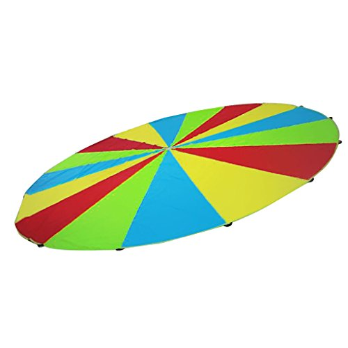 Sharplace Kinder Sportspiele bunt Schwungtuch Sport Fallschirm Regenbogen - Bunt, 3m