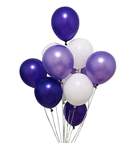 Erosion 100 Ballon 30cm Partyballon Farbige Ballons Bunte Ballons für Geburtstagsfeiern Party Hochzeitsfeiern (Pflaume Lavendel und Flieder lila und Perlweiß)