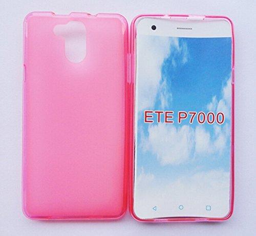 Prevoa ® 丨Transparent Silikon TPU Hülle Case Schutzhülle Tasche für Elephone P7000 4G Android Unlocked Smartphone - (Rosa)
