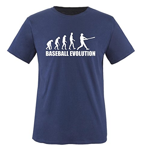 BASEBALL EVOLUTION -Herren T-Shirt in Navy / Weiss Gr. S (Land-baseball-jersey)