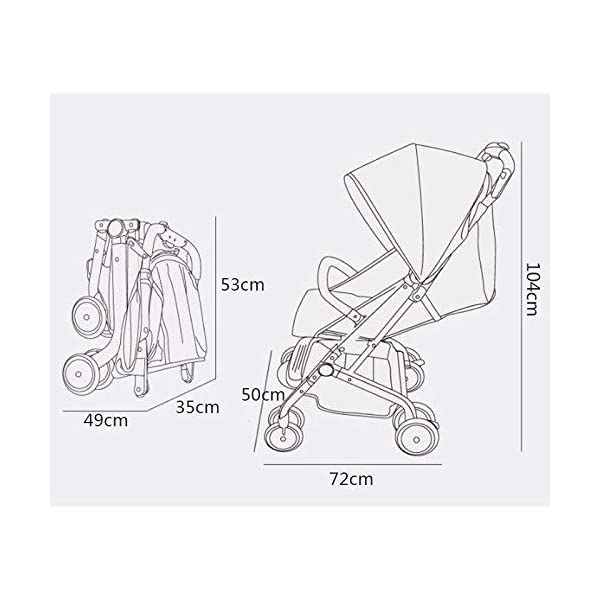 MU Comfortable Pushchairs Collapsible Stroller,One-Hand Brake, Can Sit Reclining Baby Pushchair Stroller, with Storage Basket Four-Wheel Shock Absorber Lightweight Folding Buggy Stroller,Rose red Mu The adjustable 5-point safety harness has comfortable shoulder pads, The sturdy frame has a wider seat which results in a more comfortable ride for your child The stroller can be easily folded, smaller and more portable; the adjustable backrest angle can be seated or lying down, as well as a large shopping basket and caster Comfortable sleep, eight-wheel shock absorber, built-in spring, adapt to all kinds of road conditions, baby ride more comfortable 1