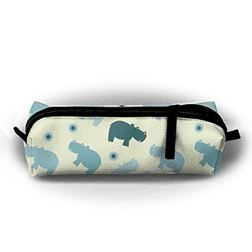 Hippos and Rhinos Portable Pen Bag Stylish