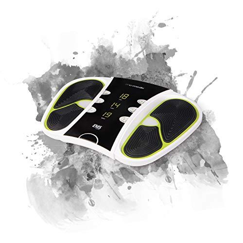 MaxMedix Circulator Massaggiatore Piedi - Massaggio Plantare Elettrico Deluxe 99 Livelli Intensità - Elettrostimolatore Professionale per Circolazione Gambe, Piedi Gonfi e Dolore Piedi