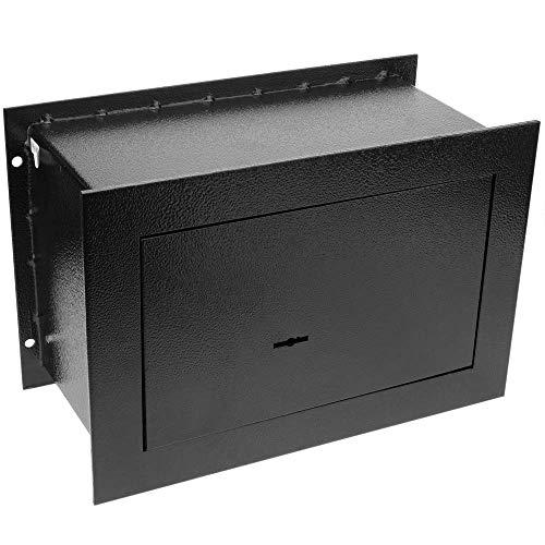 PrimeMatik - Caja Fuerte de Seguridad empotrada de Acero con Llaves 26x15x18cm...