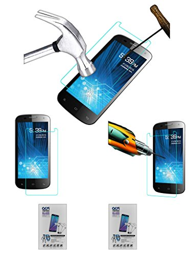 Acm Pack of 2 Tempered Glass Screenguard for Spice Mi-491 Stellar Virtuoso Pro Screen Guard Scratch Protector  available at amazon for Rs.229