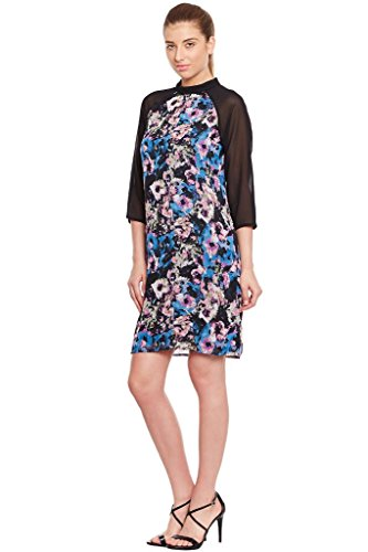 The Vanca Women Black Casual Dress In Printed Fabric  available at amazon for Rs.304