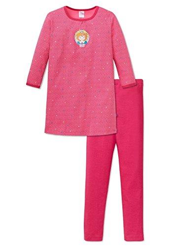 weiteiliger Schlafanzug Prinzessin Lillifee Nachthemd 1/1 mit Leggings, Rot (Pink 504), 116 (Mädchen-prinzessin-nachthemd)
