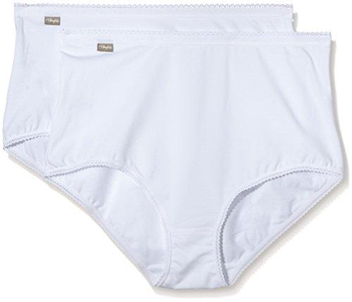 Playtex Damen Taillenslip 2er Pack Weiß - weiß