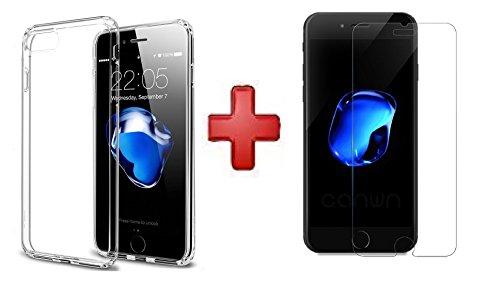 [PACK] IPHONE 7: Coque Transparente semi-rigide+Protection d'écran en Verre Trempé