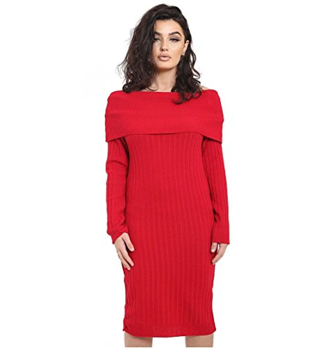Janisramone - Robe - Manches Longues - Femme * taille unique red