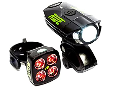 AWE® AWEBright™ USB Rechargeable Bicycle Light Set 540 LUMENS EXTREMELY BRIGHT by AWE®