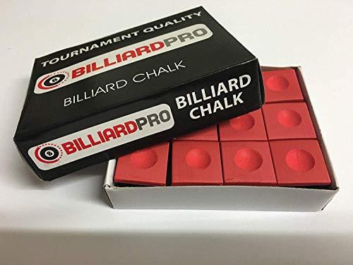 ClubKing Ltd. Billardkreide, Rot, 12 Stück