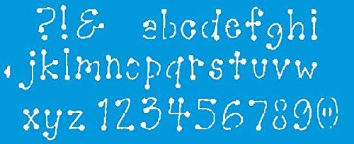 42cm x 17cm Flexibel Kunststoff Universal Schablone - Wand Airbrush Möbel Textil Decor Dekorative Muster Design Kunst Handwerk Zeichenschablone Wandschablone - Buchstaben Alphabet Brief (Buchstaben Schablonen Für T-shirts)