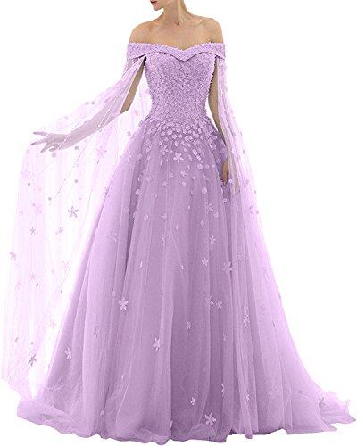 Victory Bridal - Robe - Trapèze - Femme violet/transparent