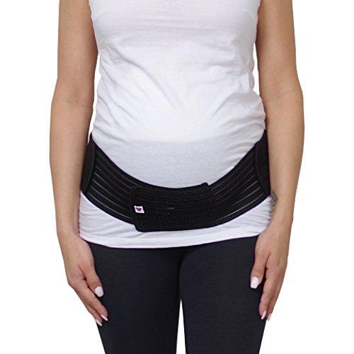 Herzmutter Schwangerschafts-Bauchgurt-Stützgürtel-Bauchband mit verstellbarem Klettverschluss für die Schwangerschaft-Gymanstik-Yoga-Sport, für Damen, (3200) (L/XL, Schwarz)
