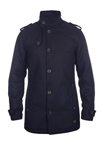 Blend Warren Herren Winter Mantel Wollmantel Lange Winterjacke mit Stehkragen, Größe:S, Farbe:Navy (70230) - 2