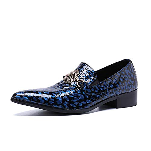 ointed Toe Pleather Smoking Oxford Schuhe Formal Dress Hochzeitsschuhe,40 ()