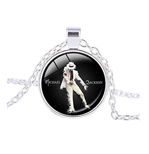 King of Pop-Anhänger Halskette Silber plattiert amzn35 ()