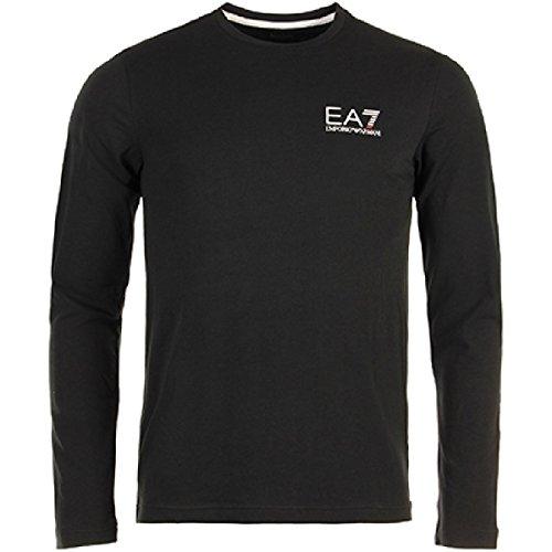 emporio-armani-ea7-t-shirt-pull-manches-longues-col-rond-homme-bleu-s-noir