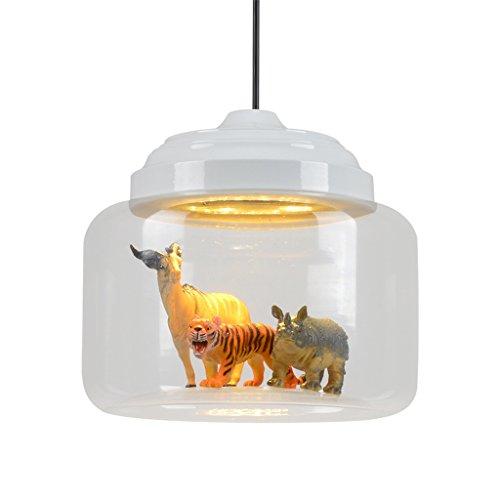#Kronleuchter Glas Kronleuchter, moderne Retro Glas Kronleuchter Schatten Anhänger ausgesetzt Deckenleuchte LED - Klarglas #Kronleuchter (stil : B) -