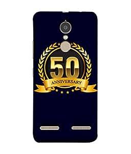 Lenovo K6 Back Cover 50th Aniversary Golden Logo Design From FUSON