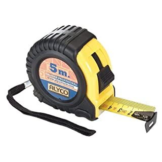 alyco 197320 – Bimaterial Tape Measure – Proteccion Anti-shock and Anti-Slip 25 mm x 8 m