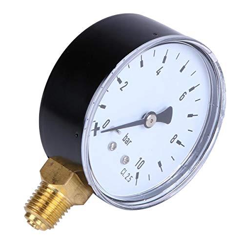 Manometer psi 2,3 Zoll Gesicht mit 1/4 Zoll Gewindeanschluss NPT Range 0~10 bar -