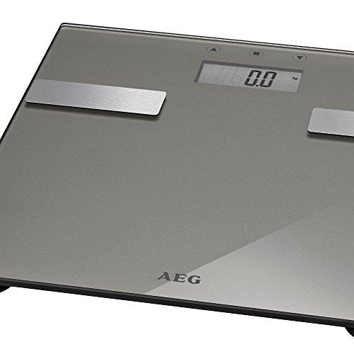 7in1 Analyse-Waage Glas Edelstahl bis 180 kg Personen-Waage Gewicht, Fettanalyse, Wasseranteil, Muskelmasse, Knochengewicht, Kalorien-Bedarf und BMI Wert