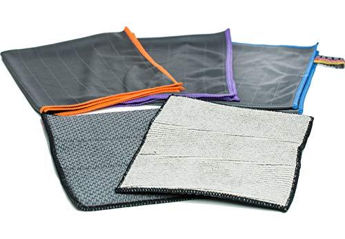 Premium Carbon Mikrofaser Set -Autotuch Fenstertuch Scheibentuch- zur professionellen Reinigung für Fussel- & streifenfreie Scheiben, Gläser & Fenster Dank unfassbar starker Carbon Faser-Struktur (5)