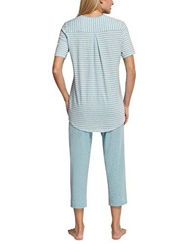 Schiesser Damen Zweiteiliger Schlafanzug Blau (Aqua 833)