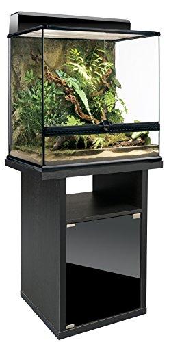 Exo Terra Terrarienkombi 60x45x45 Glasterrarium Inkl. Unterschrank, Terrarienbeleuchtungabdeckung - Terrarienkomplettset