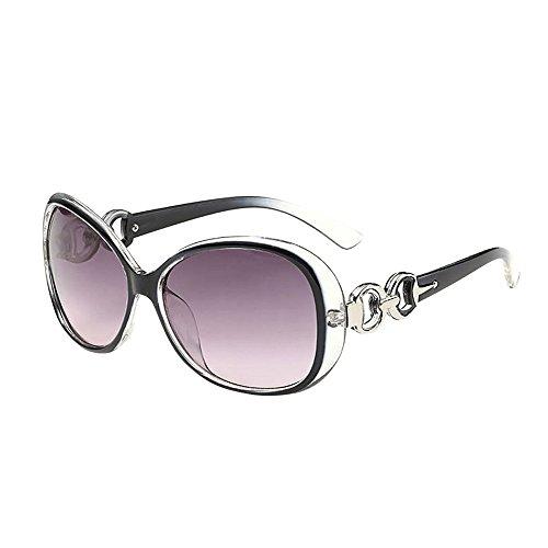 TTLOVE Mode Frauen MäNner Doppel Ring Dekoration Shades Sonnenbrille Integrierte Uv-GläSer Neutral Dekorative Sonnenbrillen Polarisiert Anti-Reflexion Augenschutz LäSsige Brille (Mehrfarben, E)