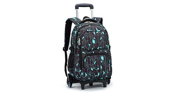 e9911d19991b Magic Union 6 Wheels Children Trolley Backpack Large Capacity Junior High  School Student Shoulder Bag Girls Boys Travel Backpack - Blue And Black  ...