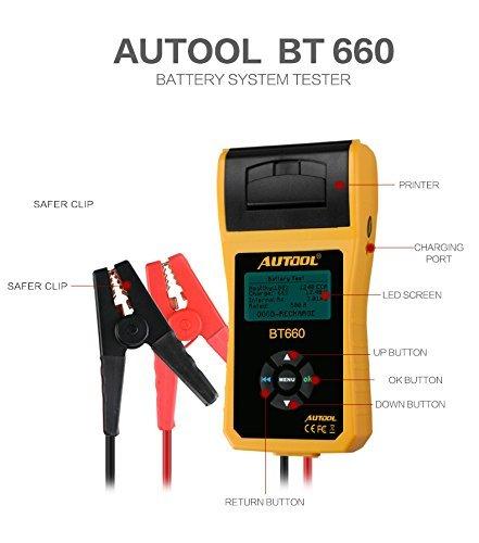 AUTOOL Analizzatore di tester per batterie auto...