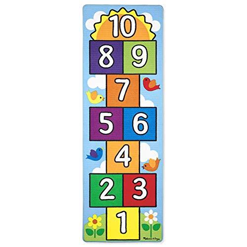 LJXiioo 3pcs Hopfen und Zählen Hopscotch Spielteppich, Kinder Teppich Kinderzimmer Teppich (26 * 78 Zoll)