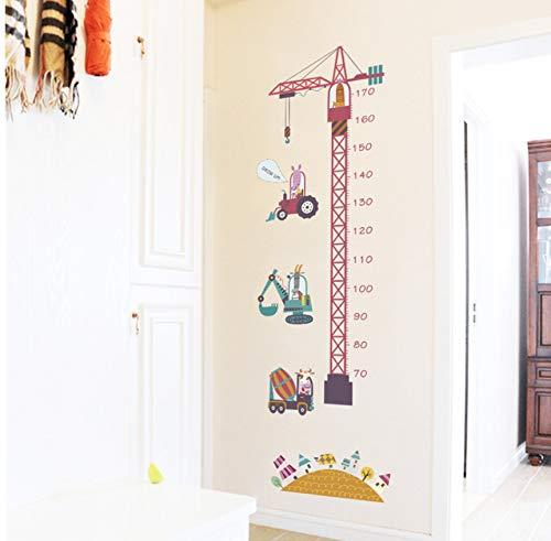 Lvabc Tiere Bauarbeiter Wachstum Diagramm Wandaufkleber Für Kinder Höhe Messen Kindergarten Wohnkultur Safari Wandbild Kunst Aufkleber