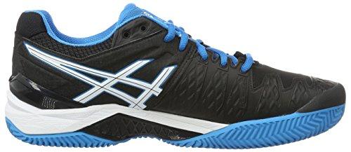 Asics Gel-Resolution 6 Clay, Scarpe da Tennis Uomo, Nero/Blu Nero (Black/Blue Jewel/white)