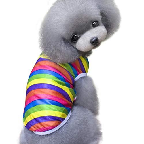 OLADO Rainbow Rayas Perros Ropa Gatos Cachorro Chaleco