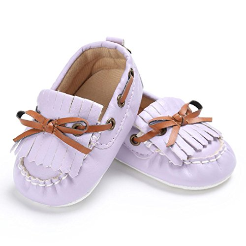 Igemy 1Paar Baby Schuhe Junge Mädchen Neugeborene Krippe Soft Sole Schuh Sneakers Lila