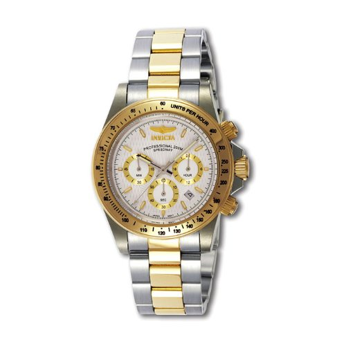 Invicta 9212 Mens Two Tone Stainless Steel Diver Chronograph Speedway wei-en Zifferblatt Uhr