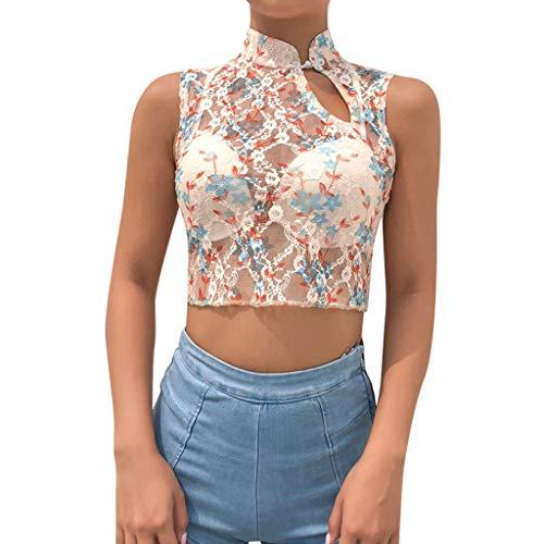 TOPKEAL Oberteil Print Short T-Shirt Damen Sommer Elegante Damen Bluse Tunika Frühling Tops Mode 2019