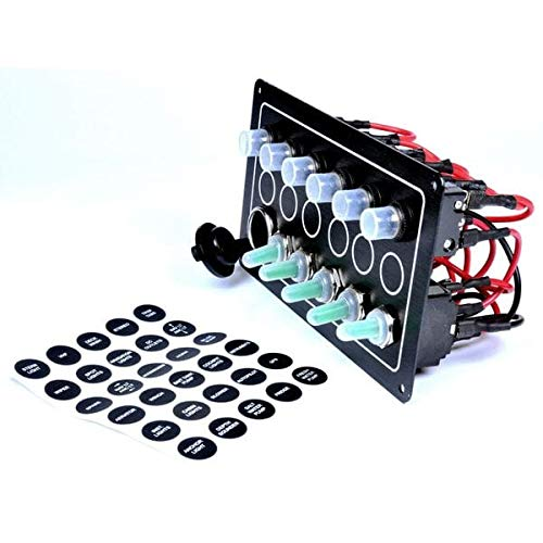 Fornautica - Panel eléctrico con 5 interruptores y Toma de 12 V...