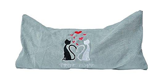 Katzen Plüsch Spielkissen True Love mit Silver Vine ca. 32 x 20 cm