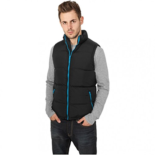 "Urban Classics Men Weste: ""Contrast Bubble Vest"" in vielen Varianten Black-White"