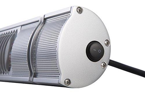GREADEN – Infrarotstrahler URANUS 2000W – Steuerung durch Fernbedienung – Gold-Lampe – Patio Heizstrahler – Terrassenheizer – GR2RM2 - 8