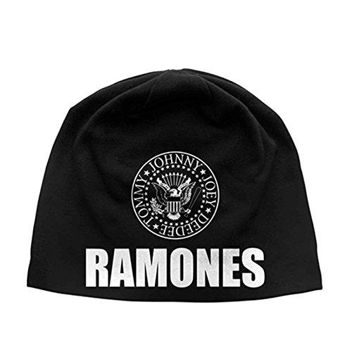 Ramones Mütze Beanie presidential seal band logo Nue offiziell Schwarz Jersey